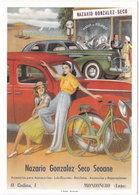Gf. Publicidad. Accesorios Para Automobiles NAZARIO GONZALES-SECO SEOANE. Mondonedo. 2910 - Reclame