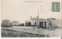 SAINT COSME DE VAIR. CP Voyagée  La Gare - Autres Communes