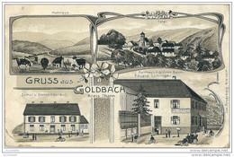 68    GOLDBACH        GRUSS AUS  GOLDBACH  , 4 Vues  De 1914 - Sonstige Gemeinden