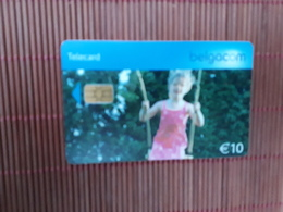 Phonecard Schommel 10 Euro Used Rare - Belgien
