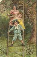 Gage D Affection Enfants Echelle Arbre Fleurs Panier - Fêtes - Voeux