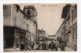 - CPA SAINT-DIZIER (52) - Rue Emile Giros (belle Animation) - Edition Librairie Jeanne D'Arc - - Saint Dizier