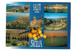 ITALIE-----SALUTI Dalla SICILIA---multi-vues--voir 2 Scans - Italië