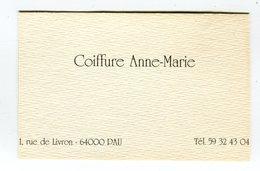 CdV °_ Coiffeur-64-Pau-Coiffure Anne-Marie-Livron - Tarjetas De Visita