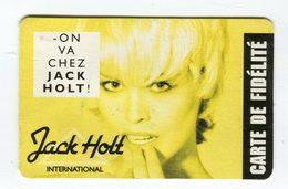 CdV °_ Fidélité-coiffeur-Jack Holt International-R/V - Tarjetas De Visita