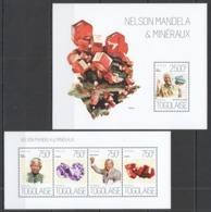 TG650 2013 TOGO TOGOLAISE NATURE GEOLOGY NELSON MANDELA & MINERALS KB+BL MNH - Minerals