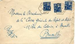 """1929 - Env. En F.M. Agence Postale Cad Hexag. Pointillé """" CUIRASSE-DIDEROT """" - Posta Marittima"""