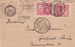 LETTONIE 1921 CARTE DE RIGA - Lettonie