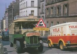 Autobus-école Renault TN6 RATP, Rue De Ménilmontant à Paris (75) - - Transport Urbain En Surface