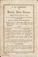 Mortuaire Hubert Claessens - Echevin De La Ville De Visé - Dcd Le 25-10-1879 - Godsdienst & Esoterisme