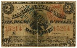 2 LIRE FALSO D'EPOCA BANCA NAZIONALE NEL REGNO D'ITALIA CAVOUR 22/01/1868 MB/BB - [ 8] Fictifs & Specimens