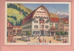 OLD POSTCARD - SWITZERLAND - SCHWEIZ - SUISSE -  CENTRAL HOTEL FEDIER - ANDERMATT - UR Uri