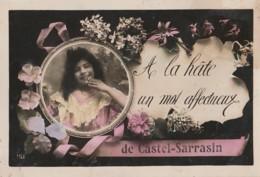 I20-82) CASTELSARRASIN A LA HATE UN MOT AFFECTUEUX  - (MEDAILLON FILLETTE - 2 SCANS) - Castelsarrasin