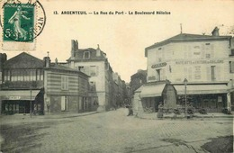 VAL D'OISE  ARGENTEUIL  La Rue Du Port Et  Boulevard Heloise - Argenteuil