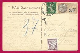 Écrit Postal Taxé à 50 Centimes - Affranchissement Postal Et Fiscal - Marcofilia (sobres)