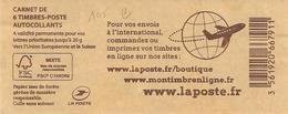 2016 - Carnet Marianne Deciappa Et Kavena  6 Timbres International Marque En Marge 4084450 - Definitives