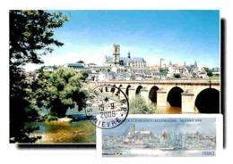 Carte Maximum 2006 - Nevers, Le Pont De La Loire, La Cathédrale St-Cyr. Vignette LISA - 2000-09
