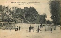 VAL D'OISE  ARGENTEUIL   Boulevard Heloise Angle De La Rue Verte - Argenteuil
