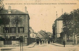 VAL D'OISE  ARGENTEUIL   Rue De La Chaussée Angle Du Boulevard Heloise - Argenteuil