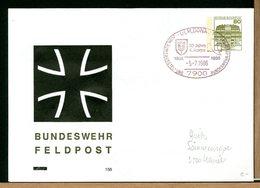 DEUTSCHE - BUNDESWEHR - 1986  ULM DONAU - FELDPOST - [7] Repubblica Federale