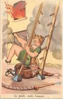 -themes Div.-ref-DD366- Humour - Illustrateurs - Illustrateur - Sapeurs Pompiers - Pompier -/ Leger Pli Haut Droit - - Sapeurs-Pompiers