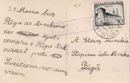 LETTONIE 1939 CARTE POUR RIGA - Lettonie