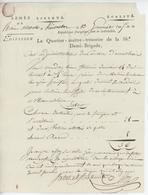 Franchise Armée De Rhin-Moselle Kaysersberg An 5 -1796 Le Quartier - Maître De La 56e Demi-Brigade Cant.à Marckolsheim - Marcophilie (Lettres)