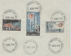 16-12-1963 -  1 Er Jour -Iles St Paul Et Amsterdam N°20 , 21 Et 7 Ae - Covers & Documents
