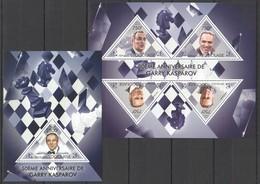 TG712 2013 TOGO TOGOLAISE SPORT CHESS WORLD CHAMPION GARRY KASPAROV KB+BL MNH - Chess