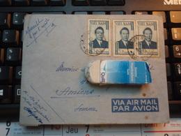 Enveloppe 4 Timbres VIET-NAM Par Avion  1951 Avec Correspondance - Vietnam