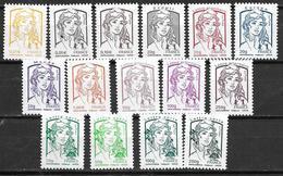 France 2013 N° 4763/4777 Neufs Marianne De Ciappa Faciale -10% - Frankreich