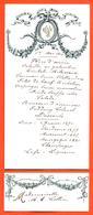 Menu Ancien + Carte D'invité Repas Du 1er Mai 1910 - Menú