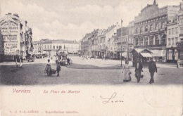 Verviers Place Du Martyr Circulée En 1902 - Verviers