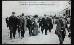 51, Grande Semaine D'aviation De Champagne, Arrivee De M. Le President De La Republique Aux Tribunes - Reuniones
