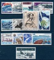 TAAF 1980-1982  Série Des Timbres Poste Aérienne  N°YT 62 à 74  Tous ** MNH - Airmail