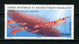 TAAF 2015  N° 728 ** Neuf MNH Superbe Faune Marine Krill Antarctique Crustacés Animaux - Unused Stamps