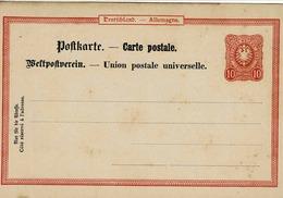 Entier Postal De 10 Pf Rouge Au Type Du N° 38 Sur Postkarte Neuve Des Faïenceries De Sarreguemines - Allemagne