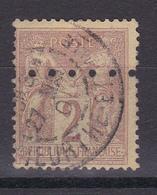 D105/  SAGE N° 85  OBL PERFORE - 1876-1898 Sage (Type II)