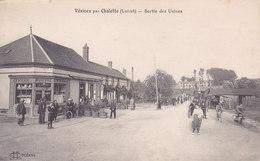 45. Chalette Vesines. Sortie Des Usines. Buvette Tabac écrite Tbe - France