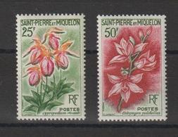 Saint Pierre Et Miquelon 1962 Fleurs 362-63 2 Val ** MNH - St.Pierre & Miquelon