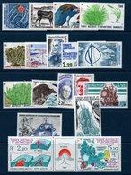 TAAF 1987/1988 Années Complètes De 1987 Et 1988   N°YT 122 à 139A  Tous ** MNH - Terre Australi E Antartiche Francesi (TAAF)