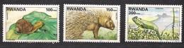 Rwanda Ruanda 1997 Yvert 1325-1327 OCBn° 1408-1410 (o) Oblitéré  Yvertcote 13,50 Euro - Rwanda