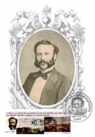 Carte Maximum 2009 - Henri Dunant En 1864, à L'époque De La Fondation De La Croix-rouge. Vignette LISA - Maximum Cards