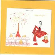 """Nouvel An Chinois  2020  Grande Belle Carte Estée LAUDER """" Happy New Year ! """" 16,5 X 14cm - Cartes Parfumées"""