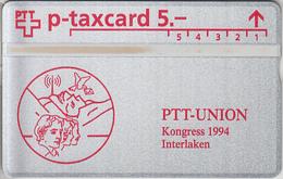 SWITZERLAND - PHONE CARD - TAXCARD SUISSE *** PTT - UNION  *** - Schweiz