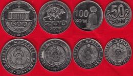 Uzbekistan Set Of 4 Coins: 50 - 500 Som 2018 UNC - Uzbenisktán