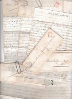 1844/45 - 12 Lettres à M. Alexandre De CARDENAU (de BORDA) De Sa Soeur Sidonie - Avec Enveloppes - Historical Documents