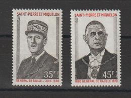 Saint Pierre Et Miquelon 1971 Général De Gaulle 419-420 2 Val ** MNH - St.Pierre & Miquelon