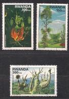 Rwanda Ruanda 1997 Yvert 1329-1331 OCBn° 1404-1406 (o) Oblitéré  Yvertcote 13,50 Euro - Rwanda