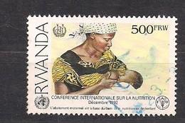 Rwanda Ruanda 1992 Yvert 1316D OCBn° 1395 (o) Oblitéré  Yvertcote 20 Euro - 1990-99: Usados